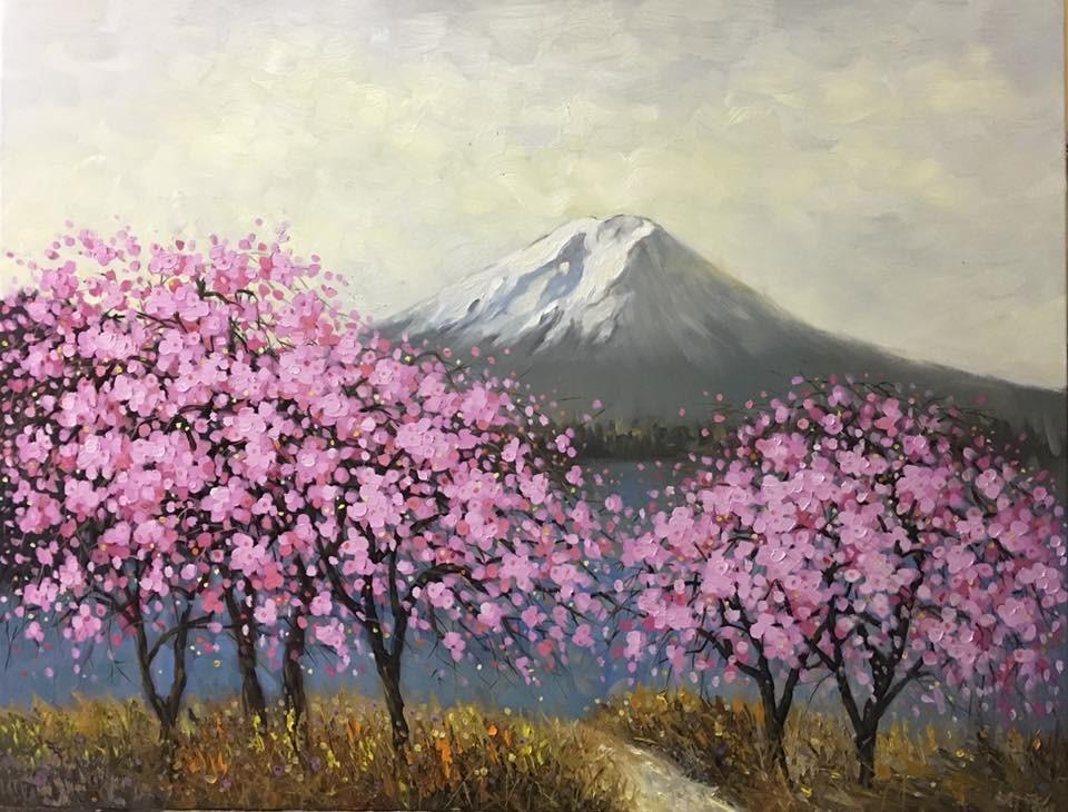 Spring Colors In Fuji Mountain