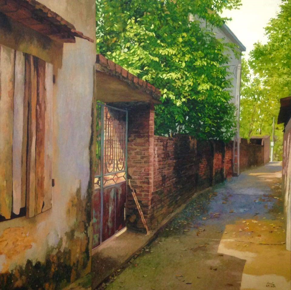 Small Alley In Summer