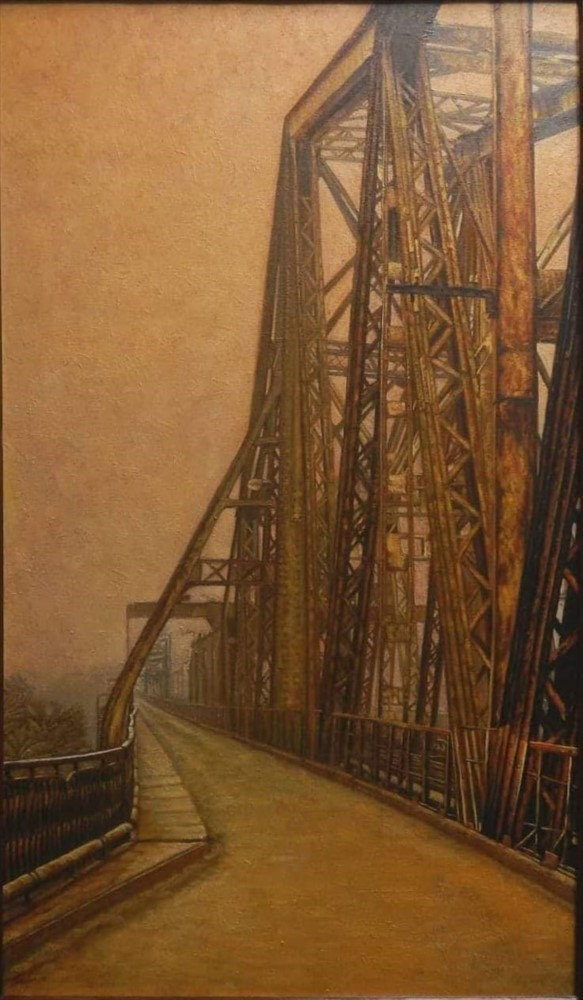 Long Bien Bridge In An Autumn Afternoon